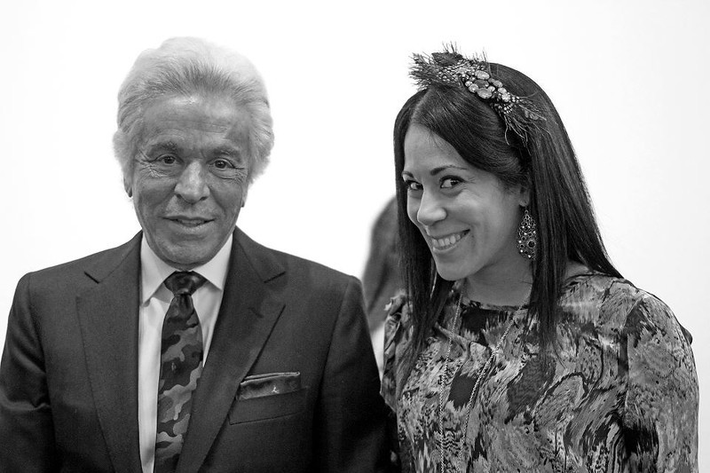 Giancarlo Giammetti - Valentino and Contemporary American Artist Sona Mirzaei at the Richard Prince exhibition at Gagosian Gallery in Beverly Hills, CA.