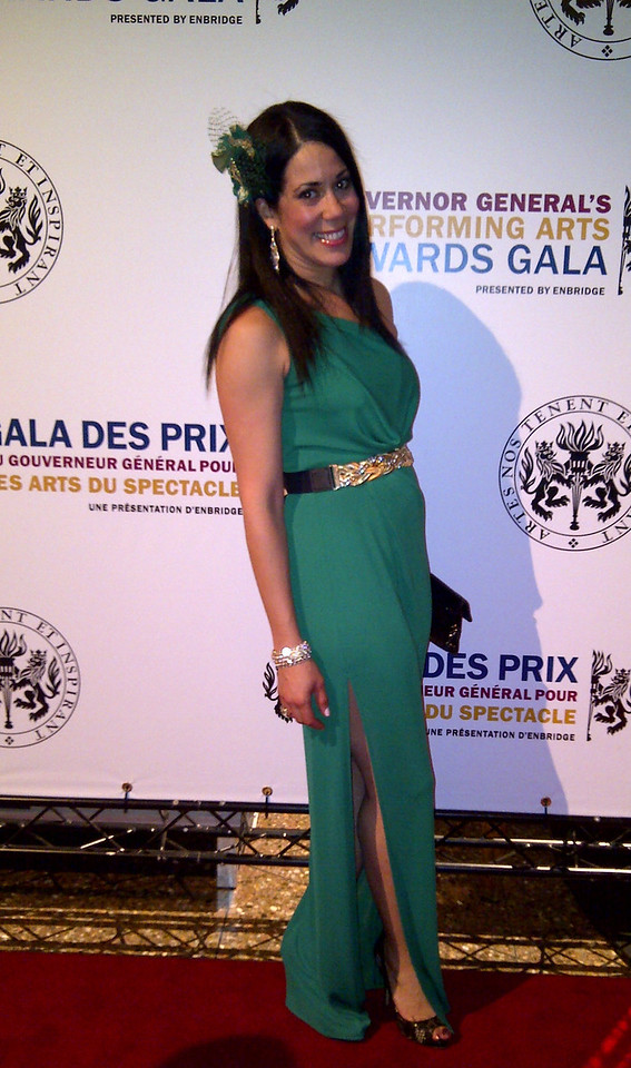 American abstract artist Sona Mirzaei at the Governor General Performing Arts Awards in Ottawa, Canada 2012.