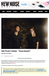 Read the full article here: http://newnoisemagazine.com/cardinals-human-acoustic-video/
