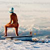 Opening photo call held in Lochaber Outdoor Capital of the UK as expected snow and ice is on the way this weekend for the launch of the 2013 Fort William Mountain Festival held on the slopes of Nevis Range,Scotlands 8th highest mountain.Local outdoor fanatics stage various shots earlier today.Walker(Mr Mike Pescod) Nude man David Monroe and snowboarders Keir Copeland and Fynn Monroe