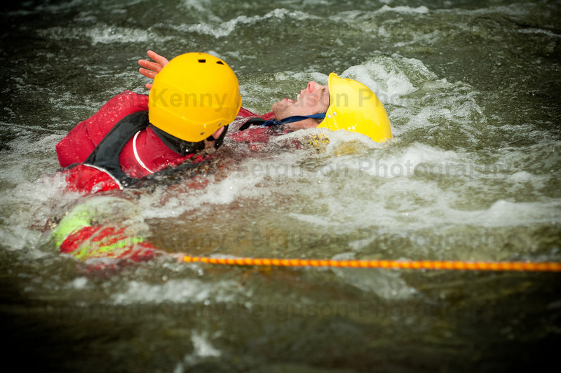 Open water safety training river nevis
