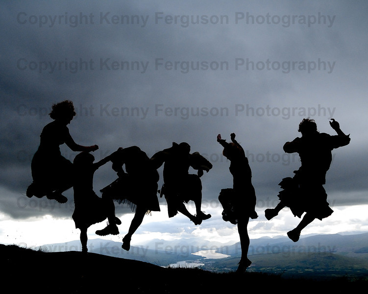 Outdoor capitial-sunrise/sunset viewing ceilidh celebrations top of Anoach Mor Fort William