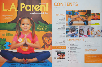 L.A. Parent, January 2018 - Cover Photo