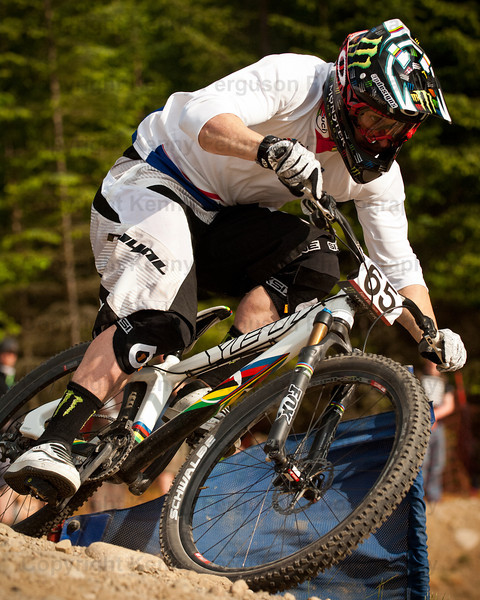 wORLD CUP FOUR CROSS PRACTICE Nevis rangs Fort William.Jared Graves AUS. Ranked number 1 in the world.Yeti Fox Shox Factory Race Team.
