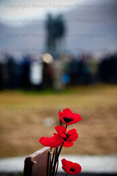 Annual remembrance day parade at the iconic Commando memorial Spean Bridge