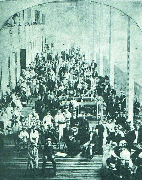 Congress Hall veranda July 1877