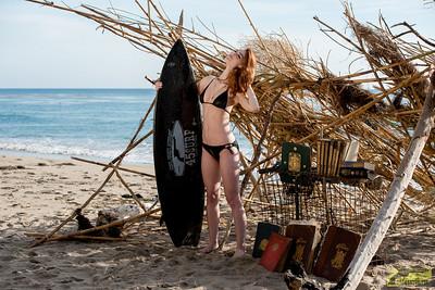 Nikon D800E Photos of Pretty Redhead Swimsuit Bikini Model Goddess with Pretty Blue Eyes!