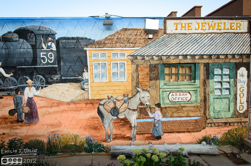 One of a few Woodland Park Murals.