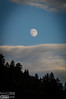 Moonrise over the Front Range at twilight.