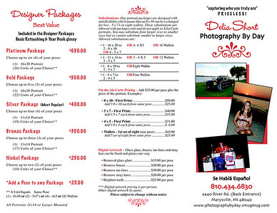Senior Brochure page 1.  Click image to enlarge.