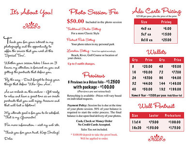 Senior Brochure page 2.  Click image to enlarge.