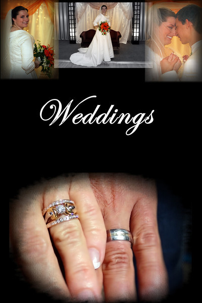 """Weddings<br /> <br /> Consultation before and after with your photographer, time and talent of your photographer or photographers.<br /> <br /> Deposit and signed contract <br /> required to book your date and the current rate::<br /> <br /> Cash, money order, chashier's check and personal check are accepted methods of payment.<br /> <br /> ~PLEASE SCROLL TO BOTTOM FOR COMPLETE INFO~<br /> <br /> CONTACT ME FOR CURRENT PRICING<br /> <br /> collection one       <br /> up to 6 hours wedding day coverage<br /> all images professionally processed & retouched<br /> disk of all images (high-resolution, print-ready)<br /> password-protected online gallery <br /> <br /> collection two  <br /> up to 7 hours wedding day coverage<br /> all images professionally processed & retouched<br /> disk of all images (high-resolution, print-ready)<br /> password-protected online gallery<br /> 15 premium-quality prints of your choice (up to 8x10)<br /> <br /> premium collection (most popular)<br /> up to 8 hours full wedding day coverage <br /> second professional photographer (up to 4 hours)<br /> all images professionally processed & retouched<br /> disk of all images (high-resolution, print-ready)<br /> password-protected online gallery<br /> 25 premium-quality prints of your choice (up to 8x10)<br /> (2) 10x8, 30-page press-printed album<br /> <br /> ULITMATE COLLECTION<br /> UNLIMITED full wedding day coverage <br /> all images professionally processed & retouched<br /> disk of all images (high-resolution, print-ready)<br /> password-protected online gallery<br /> second professional photographer (up to 6 hours)<br /> 50 premium prints of your choice (up to 8x10) <br /> 18x24"""" fine-art canvas gallery wrap<br /> (3) 10x8, 30-page press-printed album<br /> 10-minute DVD slideshow set to the music of your choice<br /> <br /> engagement and """" sessions start at $199. <br /> <br /> Date change fee: $300 (also applies to """"date TBA"""" contracts if chosen date conflicts with other obligations)"""