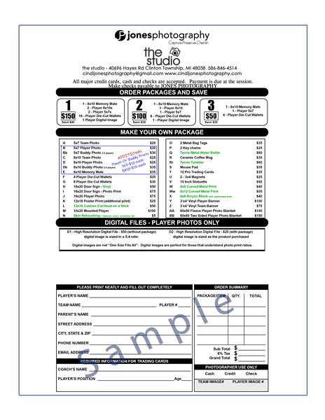 Order Form Sample