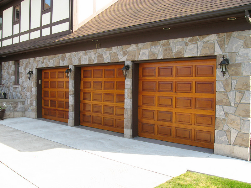 Picture of doors after a complete strip wash and re-application of wood treatment.