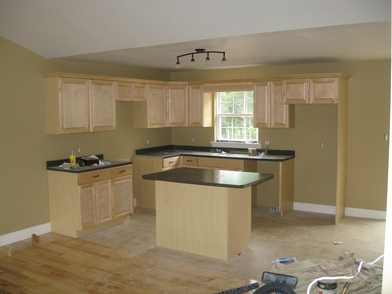 MHB Semi - Kitchen area at 16 Trellis, second coat about to start