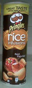 Rice Infustion: Red Paprika flavored Pringles from Italy