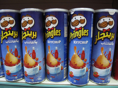 Ketchup flavored Pringles from Wadi Musa, Jordan | Courtesy of Adam Groffman | http://travelsofadam.com