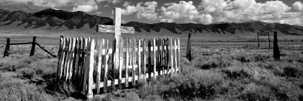 Grave on the range.  This is a cemetery in Colorado.  This print is 10 x 30 only.