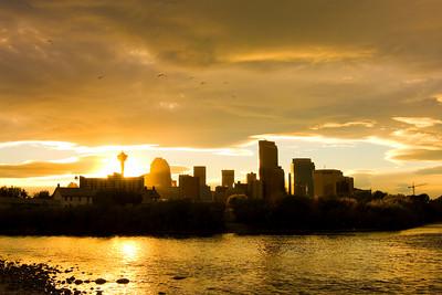 Calgary from Ft. Calgary area