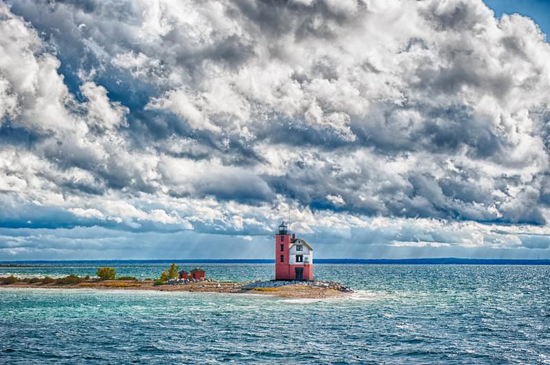 Round Island Lighthouse #2<br /> Near Mackinac Island, Michigan, 2012