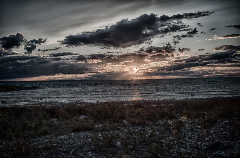 Sunset #4<br /> Near Mackinaw City, Michigan, 2012