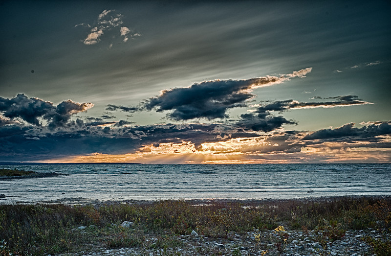 Sunset #3<br /> Near Mackinaw City, Michigan, 2012
