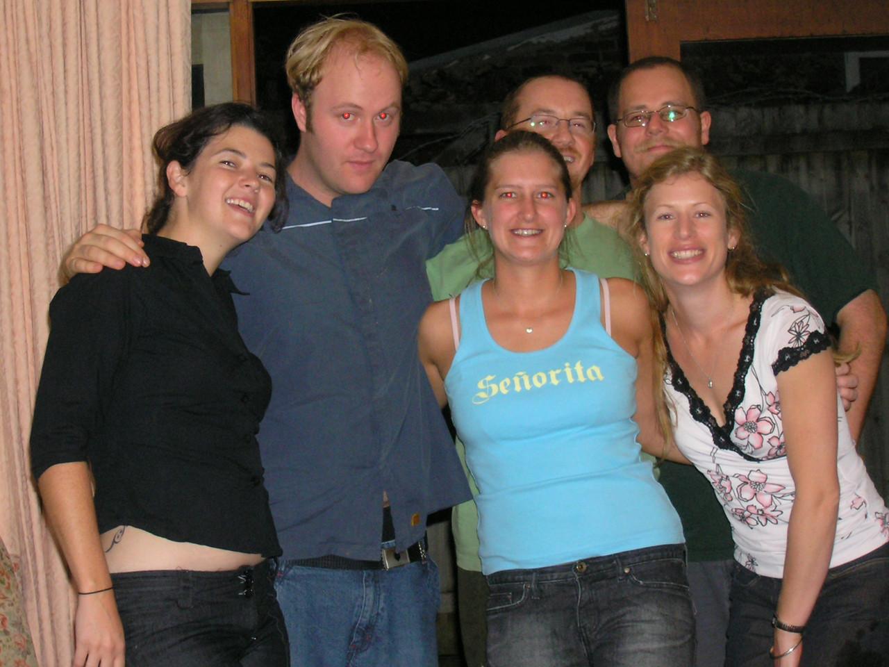 Maz, Mikey, Amberley, Matt, Simon, Leonie