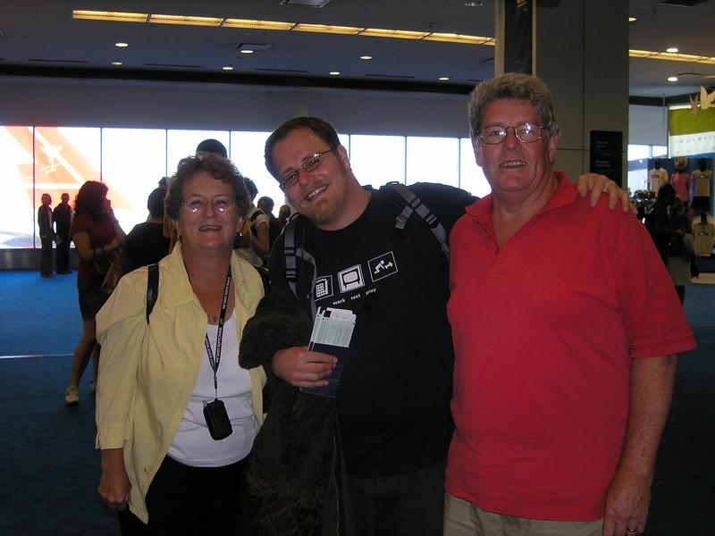 Mum, Simon and Dad