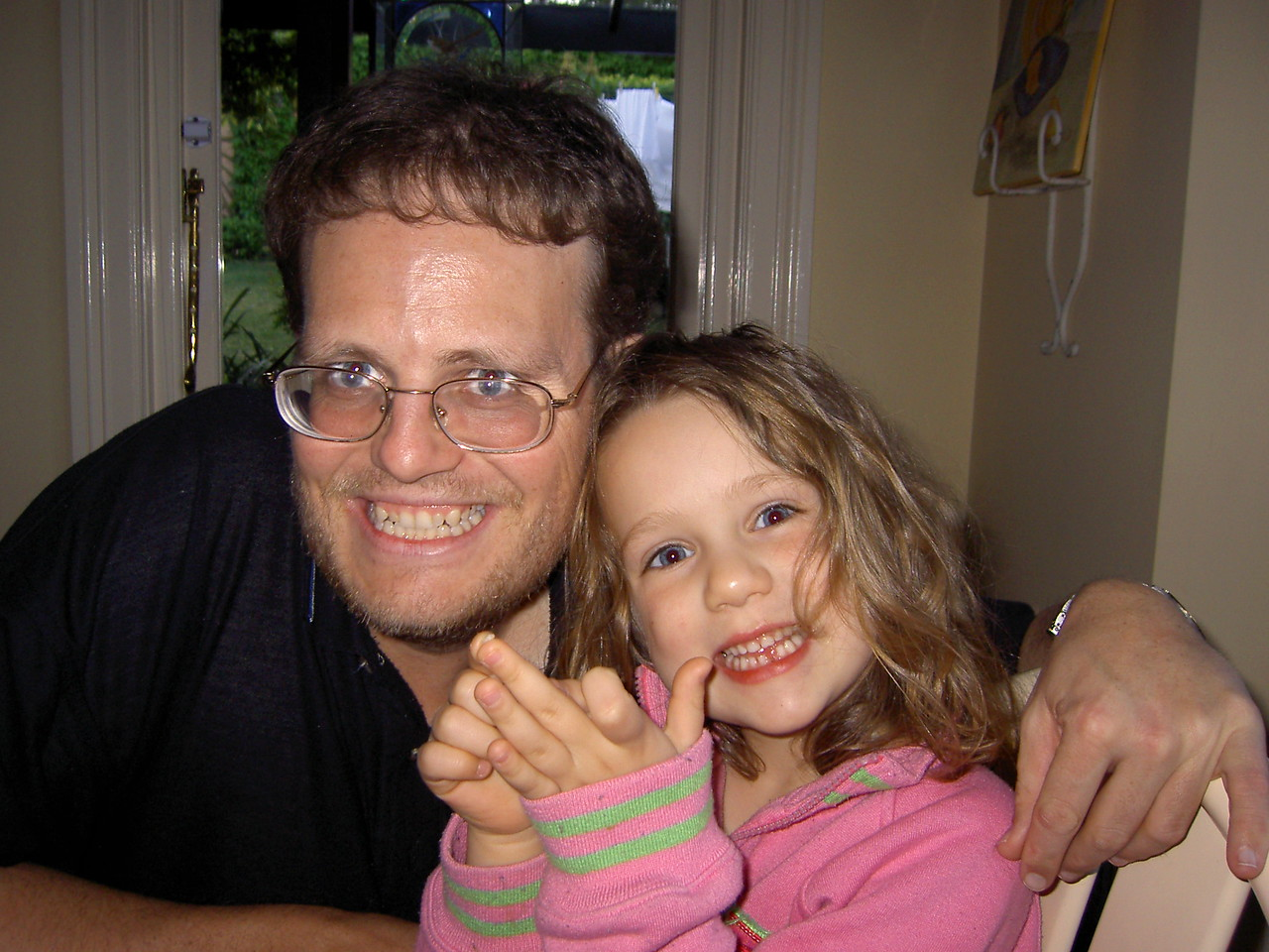 Anthony and Abigail: Abby lost her first tooth!
