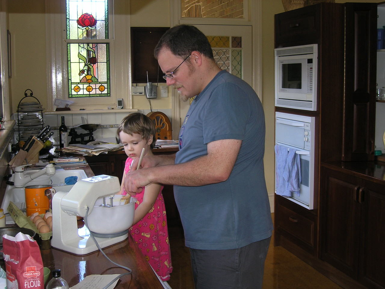 Abigail and Simon baking