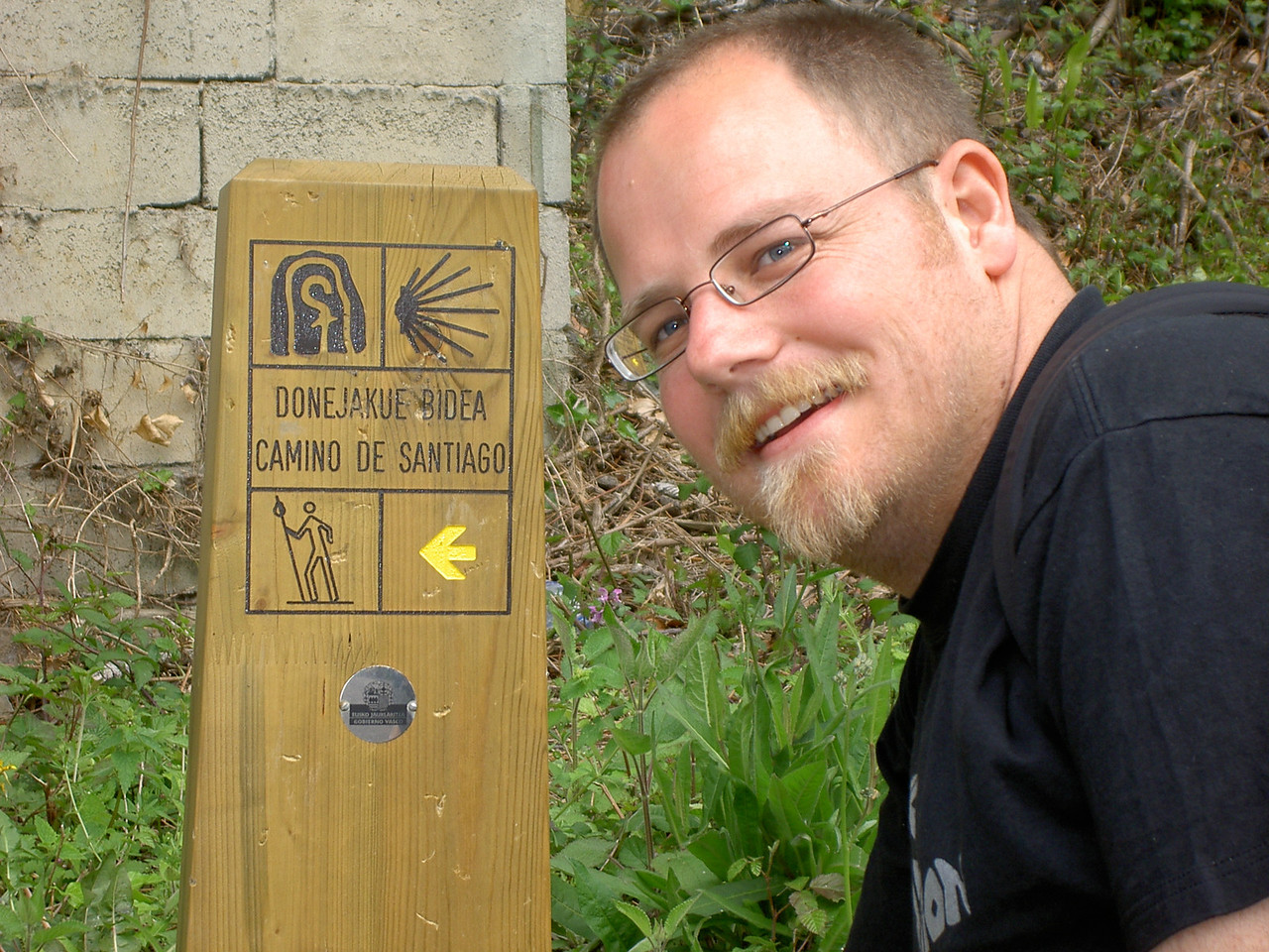 See, we did the Camino de Santiago. Well, about 100m of it.