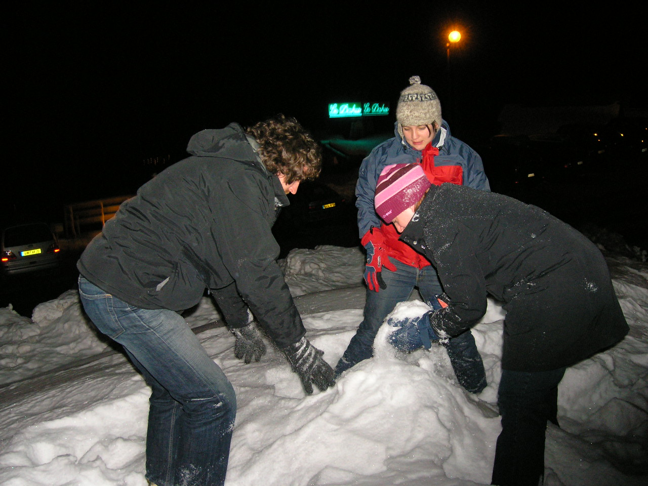 Building a snow person