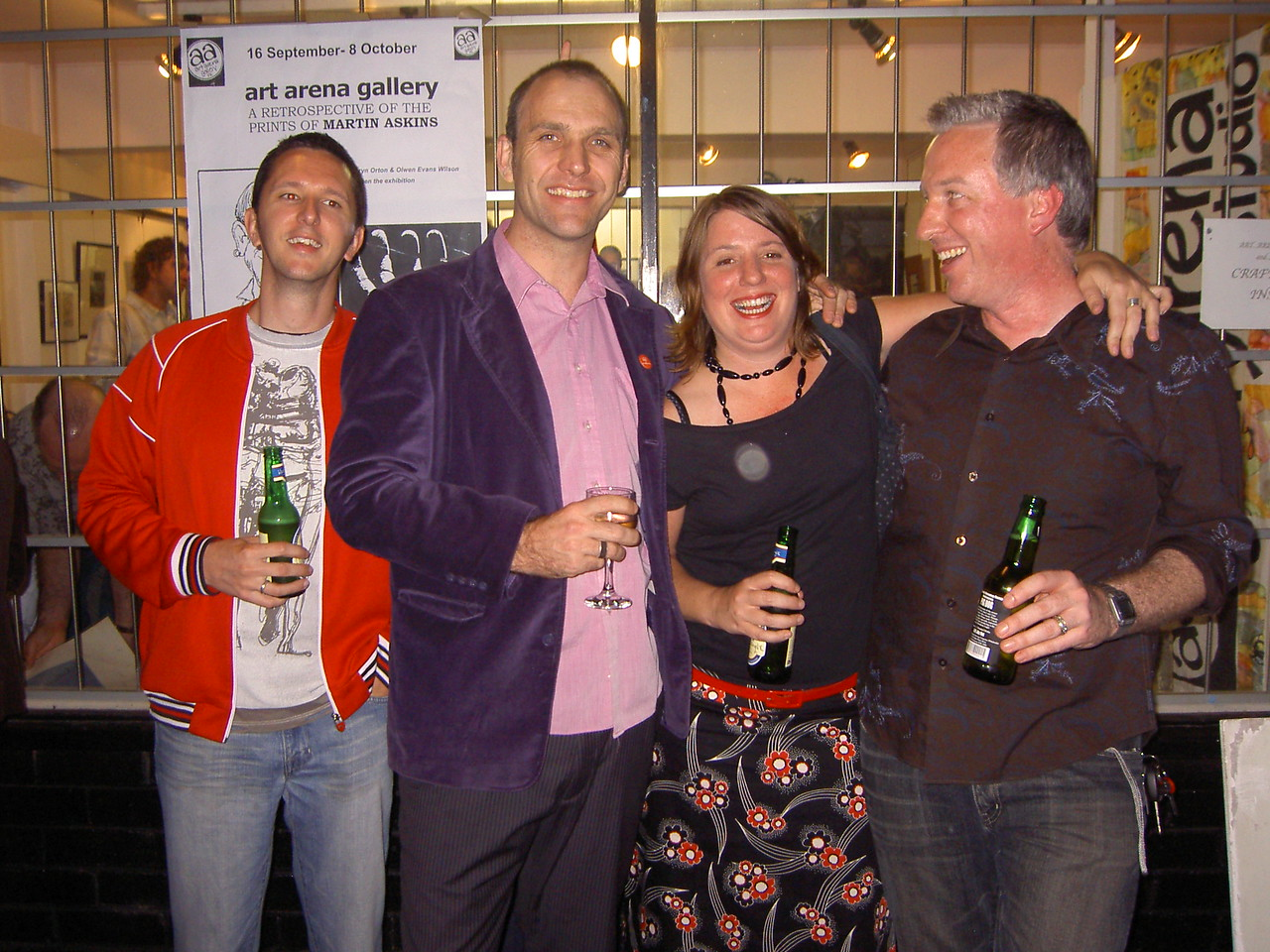 Todd, Tim, Holly and Ben @Martin's art exhibition