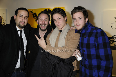 Rachid Kallamni, guest, Vito Schnabel, DJ Nick Cohen  -photo by Rob Rich © 2009 516-676-3939 robwayne1@aol.com