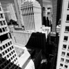 Looking down on the Helmsley building