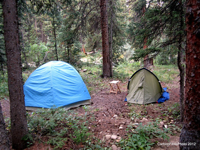 Casa Morales, Lost Man Camp Ground, right before the big day on Independence Pass.