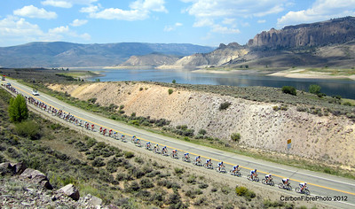 Pro Cycling Challenge 2012--Peloton, Dillon Pinnacles, Blue Mesa Reservoir