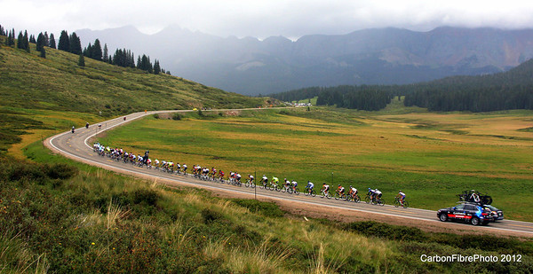 Pro Cycling Challenge 2012--Peloton, Lizard Head Pass