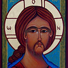 "Icon ""Face of Christ"" -  Maureen Volland<br /> Sacred Arts: by the hand of Maureen Volland"