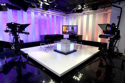Television Studio with Cameras