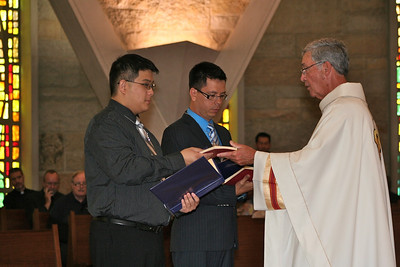 Frater Joseph receives the SCJ Rule of Life.
