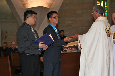 Frater Fernando receives the Rule of Life.