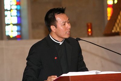Fr. Vien Nguyen was the cantor for the celebration.