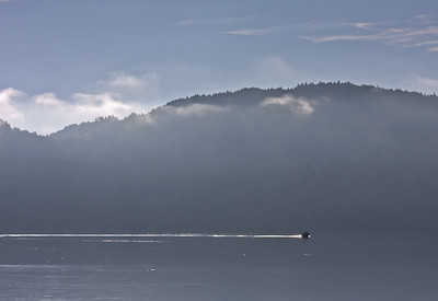A subtle breath of cloud and mist adds a delicious simplicity to this simple scene from Sooke Basin.