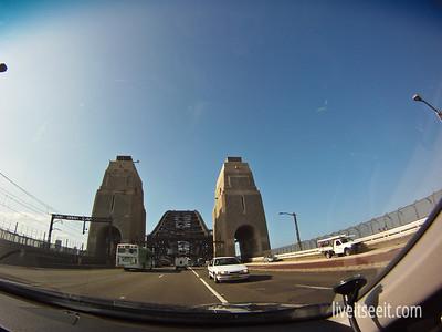 March 22. Crossing Over Sydney Harbour Bridge