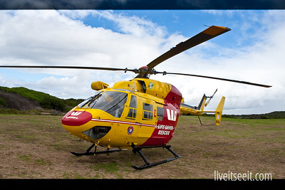 March 27. Lifesaver The Lifesaver Rescue Helicopter based in Sydney, on show at their Open Day