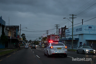 March 31. Long Arm Police responding to an emergency.