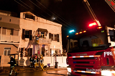 March 21. Safe Fire destroyed a house in Birchgrove, where an occupant was rescued from the roof by Firefighters as flames came dangerously close.