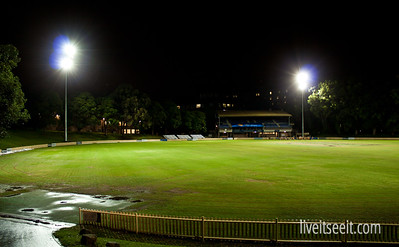 April 4. Open Oval After a long Finals campaign, the Cricket Club ended their season, and the Main Oval was opened up to the Winter Sports