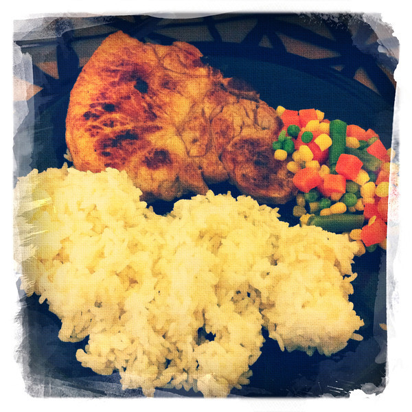 Day 138: Porkchop with Rice and Veggies